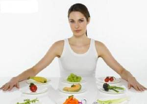 Nutrition Women with Food